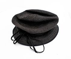NEW WITH TAGS PAUL HARNDEN SHOEMAKERS RAFFIA STRAW BLACK HAT S, #PAULHARNDENSHOEMAKERS #Cloche #FORMAL