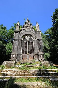 A view of gothic tomb in the Sasseto forest, Torre Alfina, Lazio - Italy. Photo by Elisa Bistocchi.
