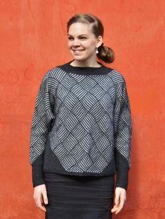 TEGULA – trøje med firkantmønster af Rikke Arnbjerg