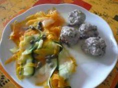 Mincir avec thermomix - Spécial régime DUKAN : Boulettes de viande avec ses tagliatelles de légumes et sa sauce blanche - DUKAN