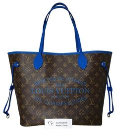Louis Vuitton Ikat Neverfull Mm Limited Edition Grand Bleu Blue Tote Bag. Get one of the hottest styles of the season! The Louis Vuitton Ikat…