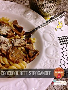 Crock Pot Beef Stroganoff | Hearty Crock Pot recipes are my favorite! See more Slow Cooker Sunday Recipes | TodaysCreativeLife.com