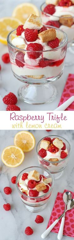 Sweet, tart, creamy and delicious... this amazing trifle has it all!