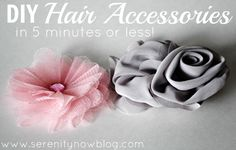 DIY Hair Accessories in 5 Minutes or Less