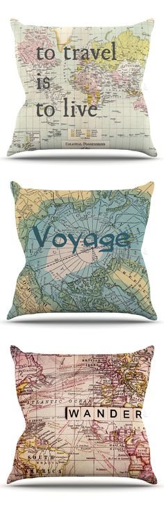 To travel is to live | Voyage | Wander - pillows