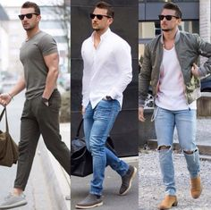likes, 45 comments - moda masculina / men's fashion ( on Fashion Catwalk, Fashion Trends, Fashion Ideas, Trending Fashion, Stylish Men, Men Casual, Sport Casual, Stylish Hair, Jeans Trend