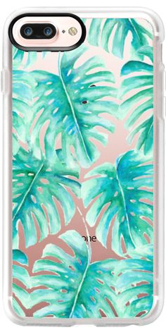 Casetify iPhone 7 Plus Case and other Leaf iPhone Covers - Paradise Palms Clear by Jacqueline Maldonado | Casetify