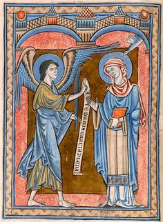 Annunciation | Psalter | England, perhaps London | ca. 1225 | The Morgan Library & Museum