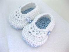 Niño bautizo zapatos de bebé / zapatillas / por AbitofLovely