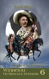 Winnetou in special, six-part pocket-size edition with identical cover art, except title banner: Winnetou and the Greenhorn; Winnetou and Old Shatterhand; Winnetou and Old Death; Winnetou and Old Firehand; Winnetou and Sans-Ears; Winnetou on Hancock Mountain (pictured)
