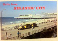 Vintage Postcard Atlantic City, N.J. Ocean One Shopping Mall with Yellow Tram Boardwalk Trolley by LorasVintageShop on Etsy https://www.etsy.com/listing/254332938/vintage-postcard-atlantic-city-nj-ocean