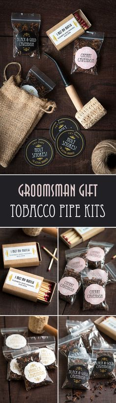 Groomsman Gift: Tobacco Pipe Kits from www.evermine.com
