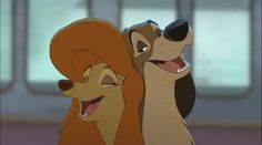 Cash (Patrick Swayze) and Dixie (Reba McEntire) from The Fox and the Hound 2
