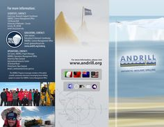 The Antarctic Geologic Drilling (ANDRILL) project wanted brochures in 4 different languages in order to reach out to its international audience. Operations Management, Project Management, Brochures, Web Design, Science, Education, Projects, Teaching, Science Comics