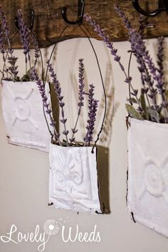 Ceiling Tile Flower Pouches