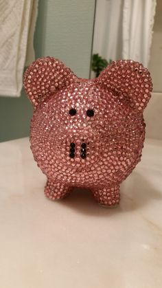 Kid sweet and lavender on pinterest - Rhinestone piggy bank ...