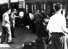 1943. Deportation of Jewish citizens by train from the Muiderpoort station in Amsterdam to transition camp Westerbork. #amsterdam #worldwar2 #muiderpoortstation
