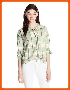 Roxy Junior's Chill Loose Plaid Top, Oil Green Lily Plaid, XL - All about women (*Amazon Partner-Link)