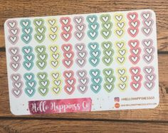 Half Heart Checklists- Planner Stickers - Functional Stickers