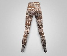 Aztec print leggings/yoga pants #handmade #fashion #style #shopping #adorable #fun #love #cute #like #instagood #instalike #Etsy #namaste #zen #OM #meditation #yoga #inspiration #yogapants
