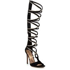 Via Spiga Gladiator Sandals - Tammryn High Heel ($350) ❤ liked on Polyvore