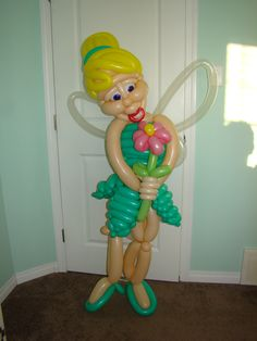 Tinkerbell Balloon 2013  Made for a 2013 birthday party by Edmonton balloon twister, Phileas Flash. www.flashballoons.com