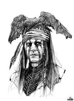 The Lone Ranger, Johnny Depp.