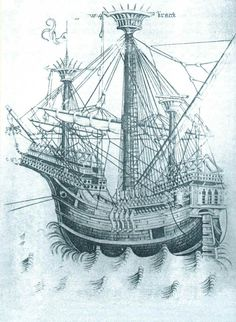 Until the 1520s, most large warships were carracks: three-masted square-rigged ships with high forecastles and sterncastles. They were large and stable enough to carry artillery.