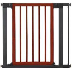 Munchkin Wood And Steel Designer Gate Dark Silver Fits Openings 29 5