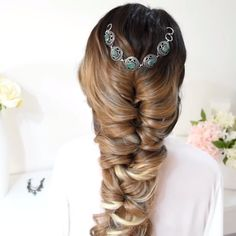 Romantic Hairstyles, Easy Hairstyles For Long Hair, Box Braids Hairstyles, Wedding Hairstyles, Cool Hairstyles, Hairstyle Ideas, Hair Videos, Makeup Videos, Hair Trends