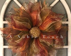 Beautiful Hand Crafted Wreaths by ANobleTouch on Etsy Wreath Crafts, Diy Wreath, Wreath Fall, Pumpkin Wreath, Wreath Ideas, Summer Wreath, Thanksgiving Wreaths, Holiday Wreaths, Couronne Diy