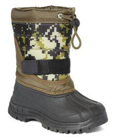 Khaki Camouflage Snow Boot