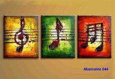 pintura acrilica cuadros musical