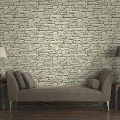 Arthouse VIP Moroccan Stone Wall Grey Brick Effect Photographic Wallpaper 623009 Brick Effect Wallpaper, Cream Wallpaper, Stone Wallpaper, New Wallpaper, Photo Wallpaper, Pattern Wallpaper, Slate Stone, Rustic Stone, Brick And Stone