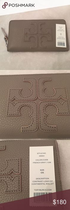 Brand new Tory Burch wallet! Light grey brand new Tory Burch wallet! New with tags and super cute! Tory Burch Bags Wallets