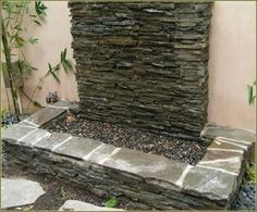 Pondless water feature.