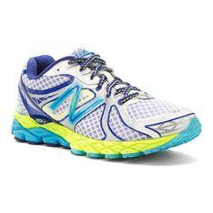 3d6ca2378b639 Womens New Balance Shoes W870v3 White Blue Yellow New Balance Walking  Shoes, New Balance Shoes