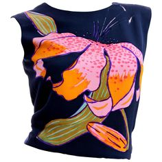 Christian Lacroix Haute Couture Silk Blouse Hand Painted Lily Sz S Numbered Quirky Fashion, Colorful Fashion, Diy Fashion, Fashion Outfits, Looks Style, My Style, Christian Lacroix, Textiles, Couture Collection
