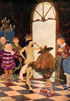 'The Emperor's New Clothes' an illustration from 'Hans Andersen Fairy Tales' – Illustrated by Milo Winter Winter Illustration, Illustration Art, Book Illustrations, Denis Zilber, Andersen's Fairy Tales, Emperors New Clothes, Classic Fairy Tales, Fable, Fairytale Art