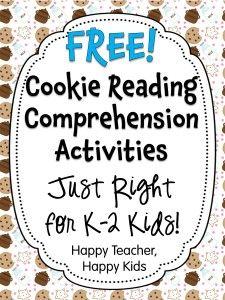 FREE Cookie Reading Comprehension Activities #freebie #smartcookies #happyteacherhappykids