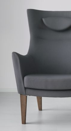 As seen on the new 2015 IKEA catalog cover: STOCKHOLM high-back armchair. This armchair is made from molded high resilience foam that provides comfort and support – and keeps its shape for years.