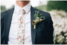 Spring style for the Groom: the floral tie blooms at weddings everywhere   http://www.sandiegowedding.com/blog/spring-style-for-the-groom-the-floral-tie-blooms-at-weddings-everywhere/2017/4/7