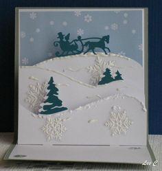 Carriole dans la neige....