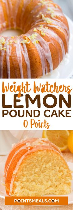 #Weight_Watchers Freestyle Lemon Pound Cake Recipe – 0 Points