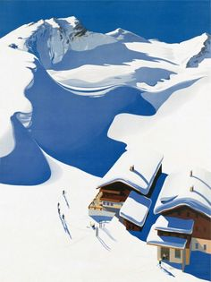 Poster for the Austrian Tourism Board painted in 1937 by Erich...
