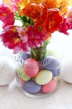 Easter Ideas, Glass Vase, Inspiration, Table Decorations, Gifts, Home Decor, Pastel, Easter Activities, Biblical Inspiration