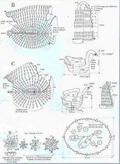tejido a crochet puntos basicos - Buscar con Google