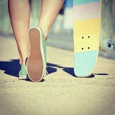 Girl With Skateboard ♡