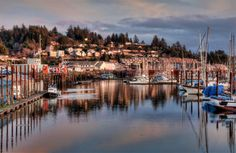 Newport is a beautiful town on the Oregon coast. Named the Dungeness Crab Capital of the World. Photo at Yaquina Bay.