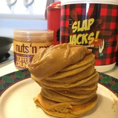 Welp I thought I was getting sick and now I'm super sick so I'm just going to snuggle up with these pumpkin slap jacks and hope this monster cold goes away 🥞😷 #slapnutrition #slapjacks #teamslap #nutsnmore #rpstrength #flexibledieting